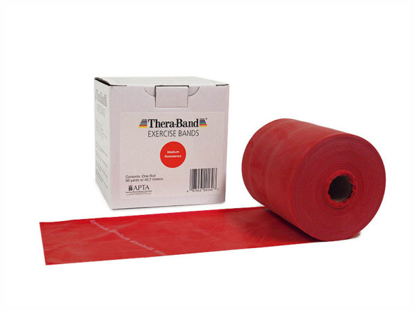 TheraBand Professional Latex Resistance Bands 50 Yards Roll