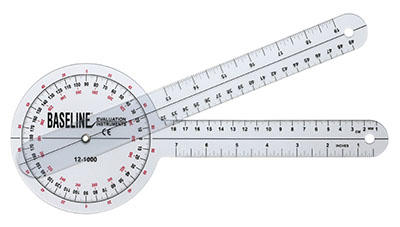 Baseline 360 degree ISOM Goniometer, 12 inches