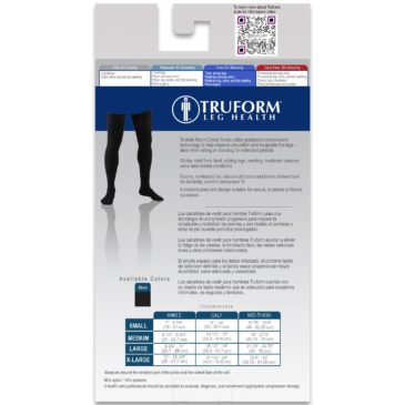 Truform Thigh High Socks / Men's Dress Style / 20-30mmHg 1945