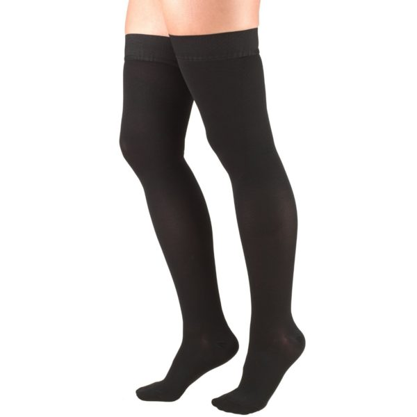 TruForm Classic Medical Thigh High Compression Stockings 20-30mmHg / Unisex Closed Toe 8868