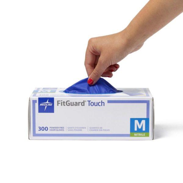 Medline FITGUARD® TOUCH NITRILE GLOVES, POWDER FREE