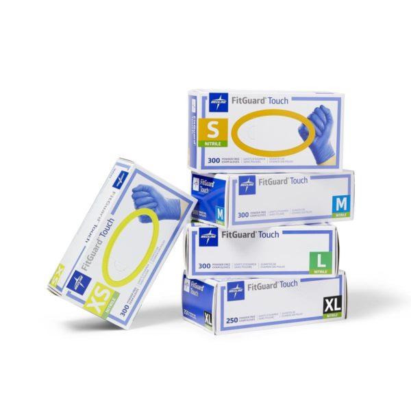 FitGuard® Touch Nitrile Gloves, Powder Free, 300 per box