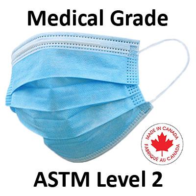 Disposable 3-Ply Procedure Face Masks ASTM Level 2