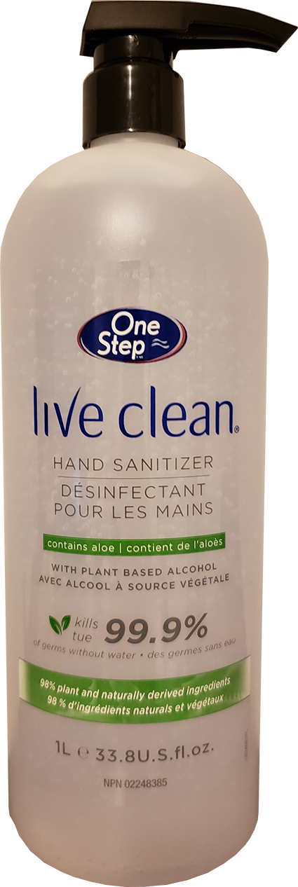 Live Clean® Hand Sanitizer 1 Litre Pump Bottle