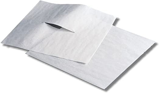 "12 x 12"" Face Slit Smooth Headrest Paper"