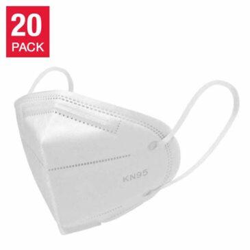 KN95 3-Ply Disposable Face Masks (Box of 20 pcs)