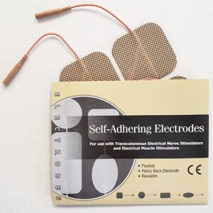"2 x 2"" Square Tan Cloth Self-Adhesive Electrodes by Compass Health"