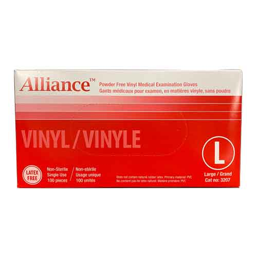 Alliance Powder-Free Vinyl Medical Examination Gloves