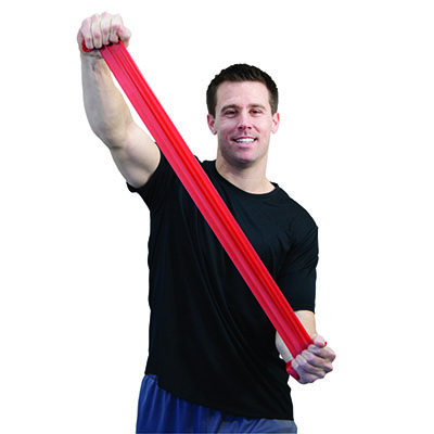 Sup-R Band Latex Free Exercise Band - 30 Packs Red Dispenser