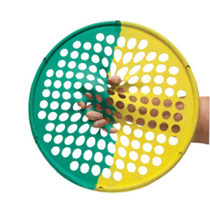 "CanDo Hand Exercise Web - 14"" Diameter - Multi-Resistance Yellow/Green"