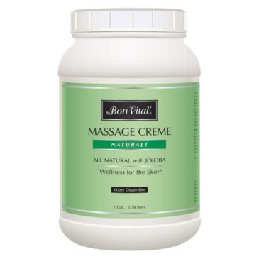 Bon Vital' Naturale Massage Creme 1 Gallon Jar