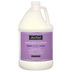 Bon Vital' Swedish Massage Lotion 1 Gallon Bottle