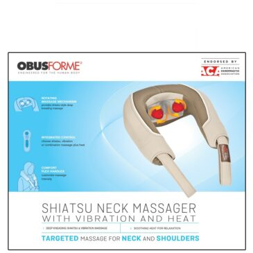 Obus Forme Shiatsu and Vibration Neck Massager