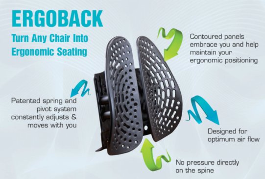 ErgoBack Backrest by Health Medics