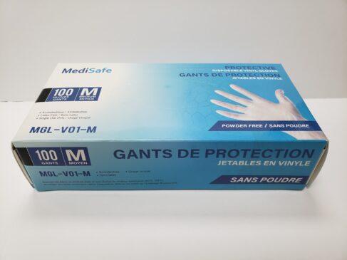 MediSafe Protective Disposable Vinyl Gloves 100 per Box