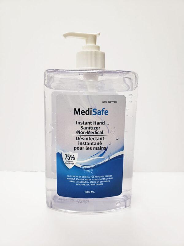 MediSafe 75% Instant Hand Sanitizer 1000 ml Pump
