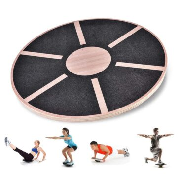 """16"""" Wooden Wobble Board for Balance Stability Training"""