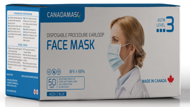 Canada Masq Medical Grade ASTM Level 3 Procedure Face Masks