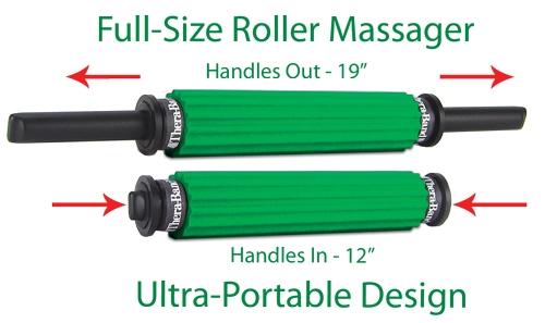 TheraBand Massage Roller - Portable Handle