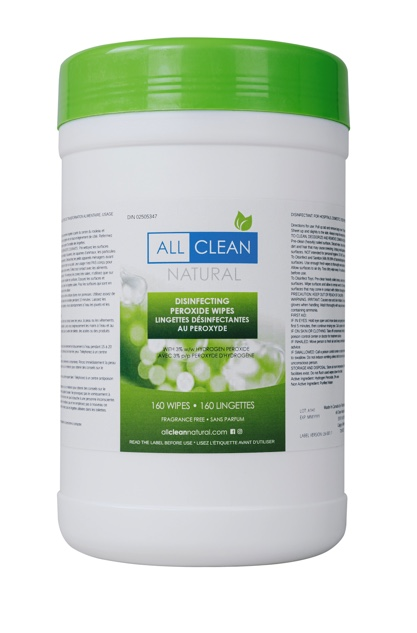 All Clean Natural's Disinfecting Peroxide Wipe (160 Wipes)