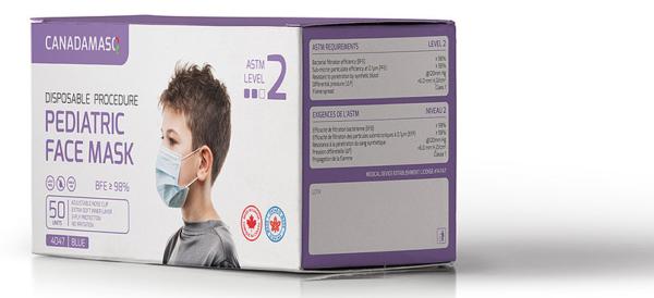 Canada Masks Kids Pediatric